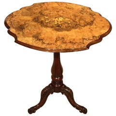 Beautiful Burr Walnut Victorian Period Occasional Table