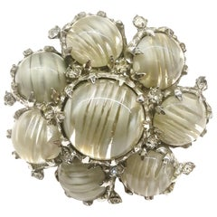 A beautiful glass and paste brooch, Christian Dior by Mitchel Maer, 1950s