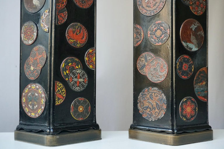 Beautiful Pair of Japanese Style Table Lamps, Italy, 1950s For Sale 4