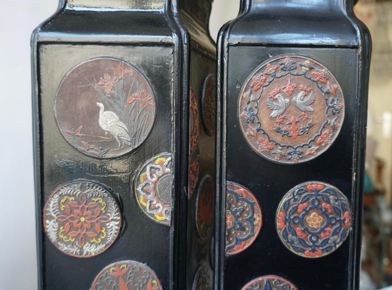 Beautiful Pair of Japanese Style Table Lamps, Italy, 1950s For Sale 6