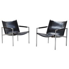 Beautiful Pair of Lounge Chairs by Martin Visser for Spectrum, 1960