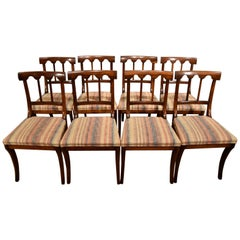 Beautiful Set of Eight Rosewood Dining Chairs