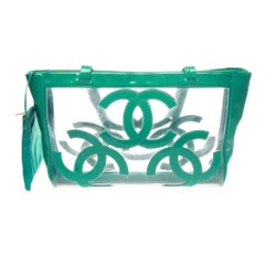 A beautiful vintage clear patent leather Tote by CHANEL