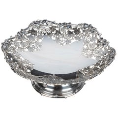 Beautifully Pierced and Cast Early 20th Century Silver Tazza