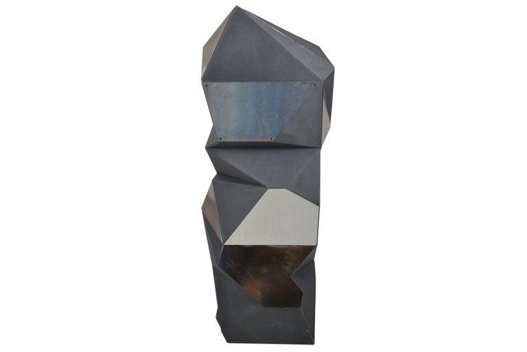 Belgian Asymmetrical Mirror Object / Pedestal, 1970 In Good Condition For Sale In Sint-Kruis, BE
