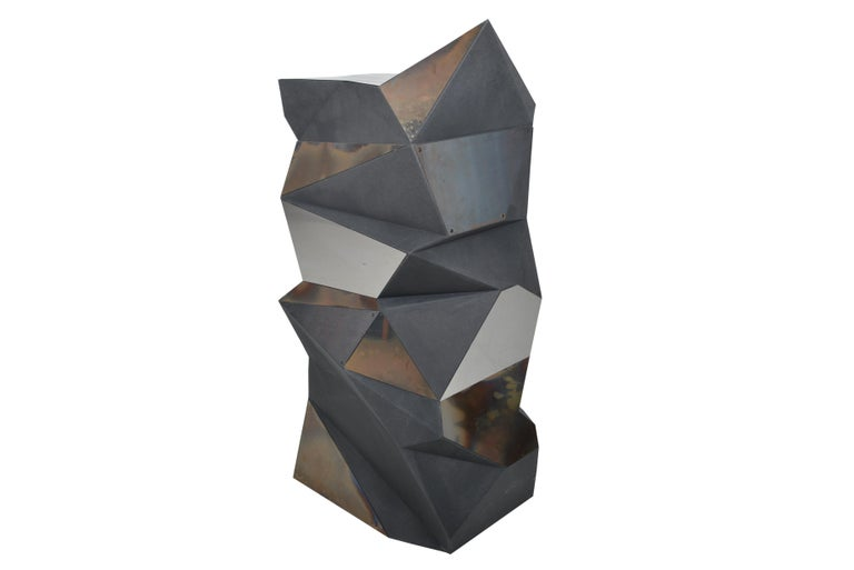 20th Century Belgian Asymmetrical Mirror Object / Pedestal, 1970 For Sale