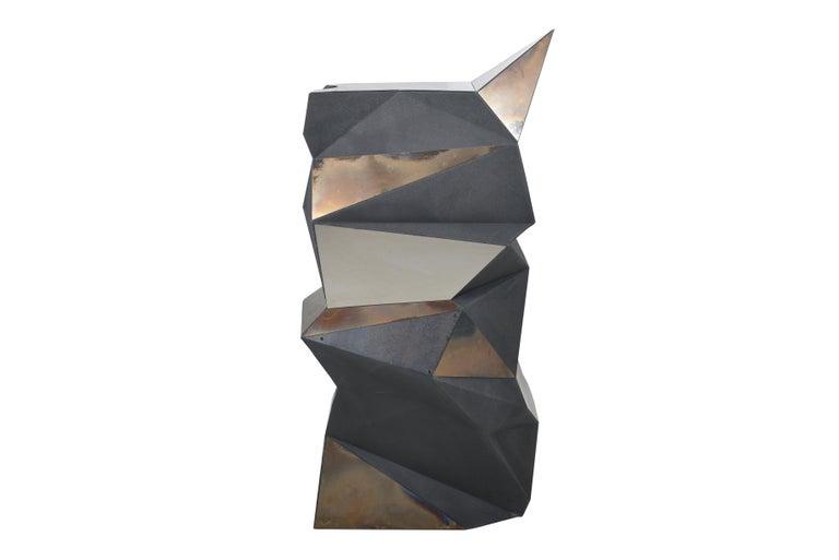 Foam Belgian Asymmetrical Mirror Object / Pedestal, 1970 For Sale
