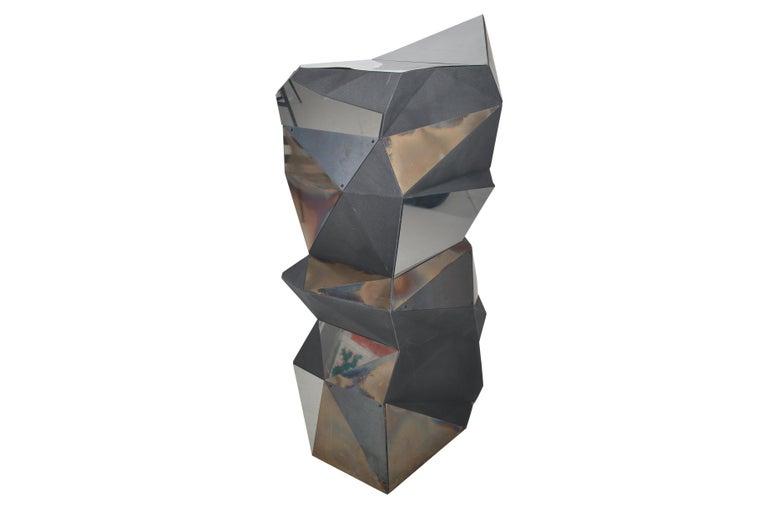 Belgian Asymmetrical Mirror Object / Pedestal, 1970 For Sale 1