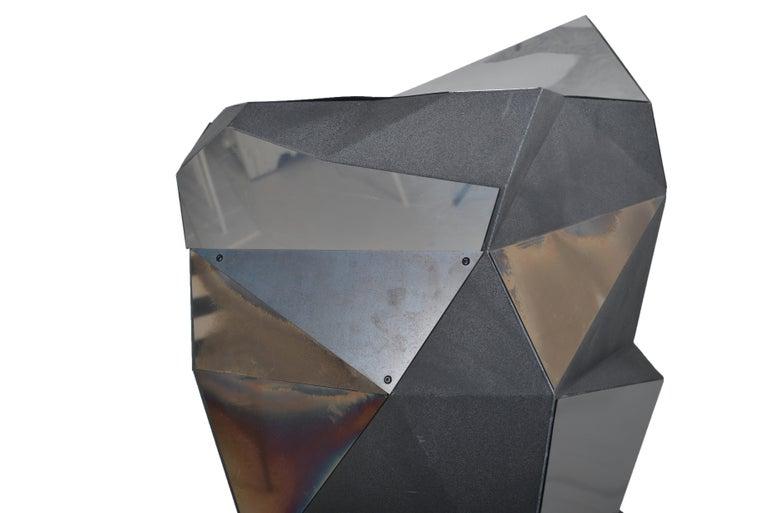 Belgian Asymmetrical Mirror Object / Pedestal, 1970 For Sale 3