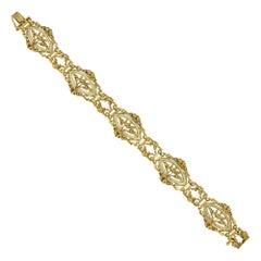 Belle Époque Gold and Enamel Bracelet