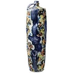 Big Ceramic Jar with Glazes Decoration by Michel Lanos '1926-2005'