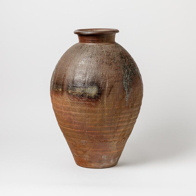 French Big Ceramic Vase by Steen Kepp, to La Borne, circa 1970-1980 For Sale