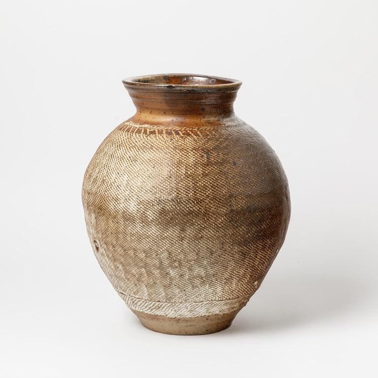 French Big Ceramic Vase by Steen Kepp, to La Borne, circa 1970-1980, France For Sale