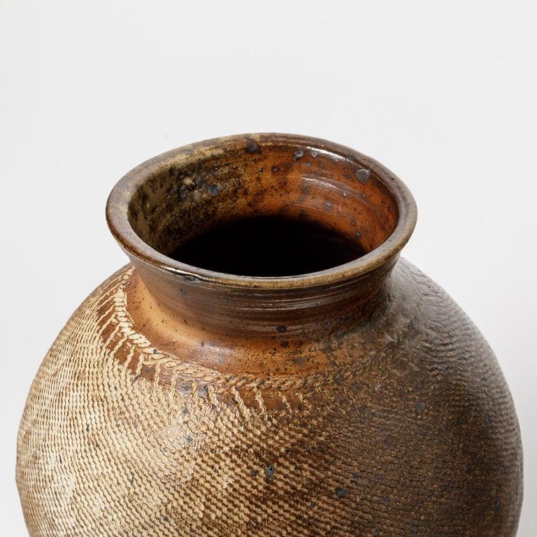 Turned Big Ceramic Vase by Steen Kepp, to La Borne, circa 1970-1980, France For Sale