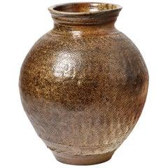 Big Ceramic Vase by Steen Kepp, to La Borne, circa 1970-1980, France