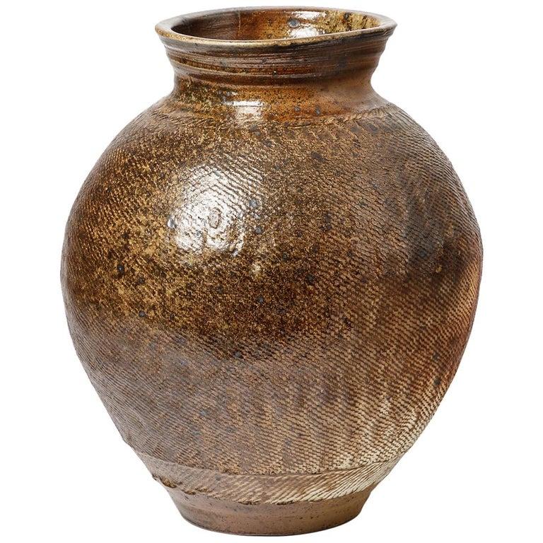 Big Ceramic Vase by Steen Kepp, to La Borne, circa 1970-1980, France For Sale