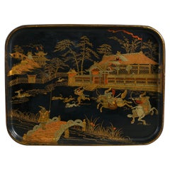 Black and Gold Lacquer Tray