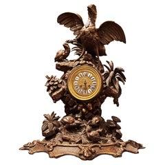 Black Forest Carved Clock