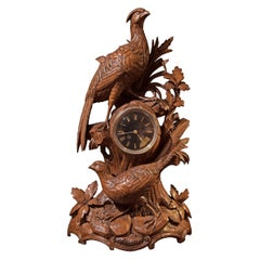 Black Forest Clock with Two Pheasants