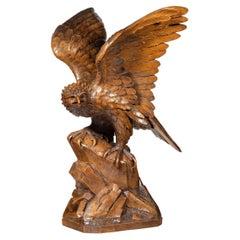 Black Forest Walnut Model of a Golden Eagle Attributed to Alfred Stähli