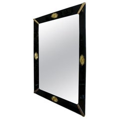 Black Glass Frame Venetian Mirror