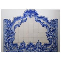Blue & White Tile Wall Ornament, Exquisite Detail