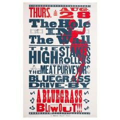 'Bluegrass Blowout!' 1997 U.S. Window Card Film Poster