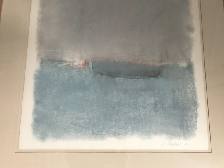 Paint Boat Lost at Dusk Watercolor Signed Shelly Shepperd, 1979 For Sale