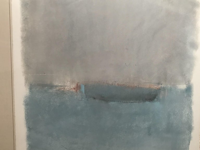 Boat Lost at Dusk Watercolor Signed Shelly Shepperd, 1979 For Sale 1