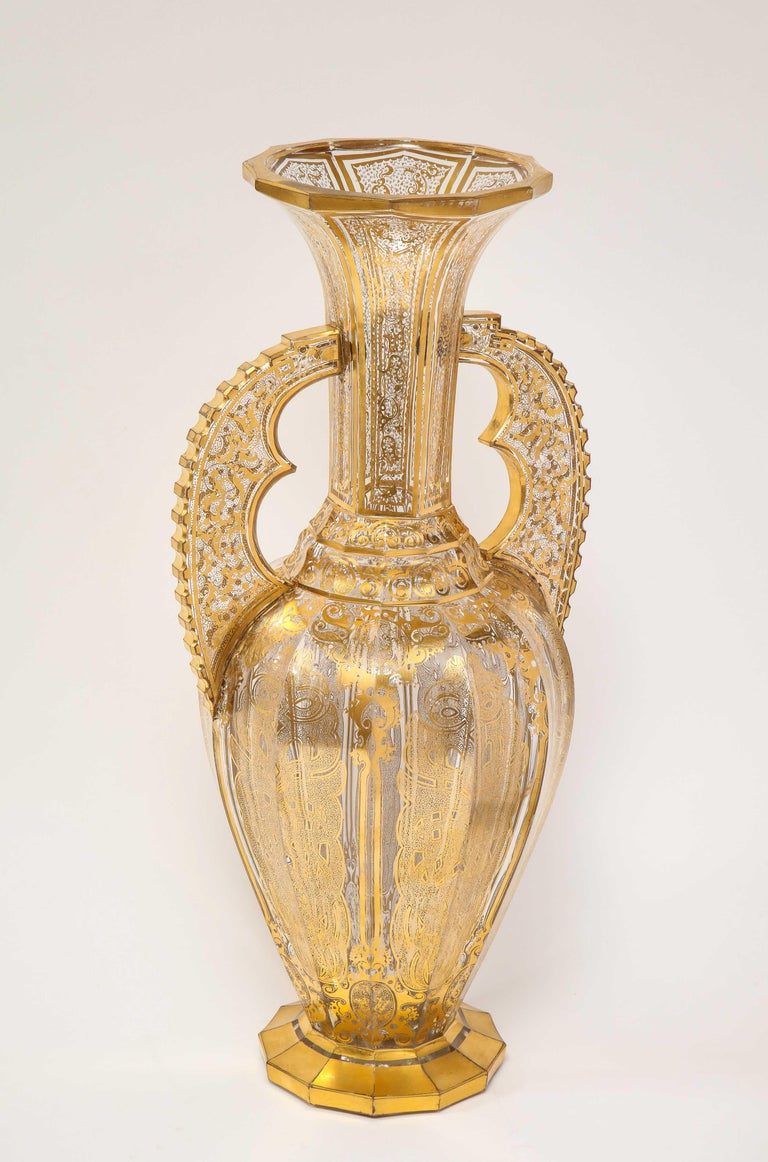 Bohemian Cut-Glass Vase in the