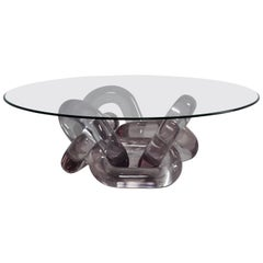 Bracelet, Resin Coffee Table with Glass Top by Hua Wang