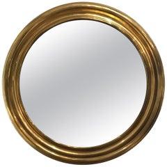 Brass 1950s Round Mirror
