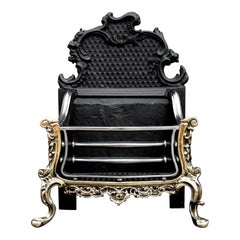 Brass and Steel Rococo Firegrate