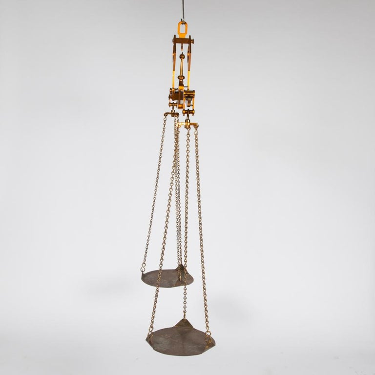 English Brass Beam Scale Made by Doyle & Son for the City of Exeter For Sale