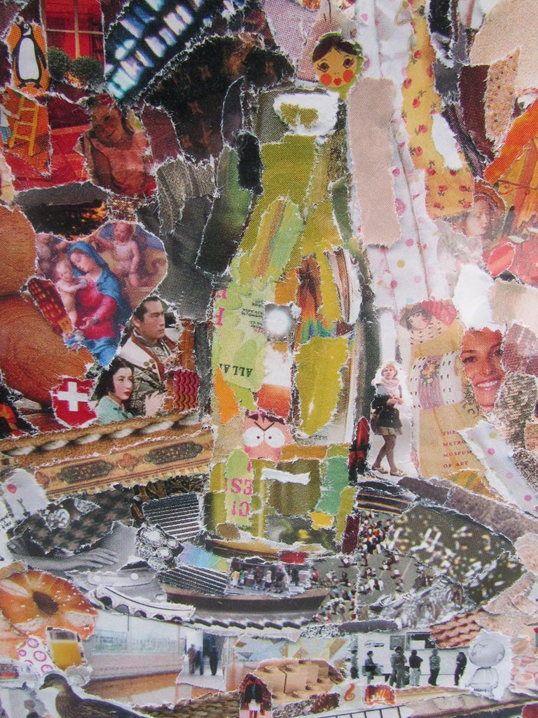 Paper Brazilian Modern Abstract Expressionist Chromogenic Print, Vik Muniz For Sale
