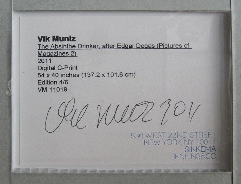 Brazilian Modern Abstract Expressionist Chromogenic Print, Vik Muniz For Sale 1