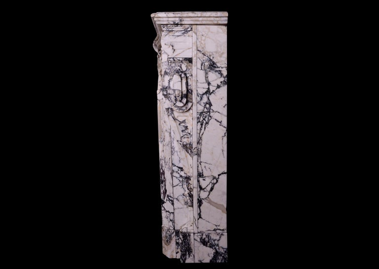 Breccia Louis XIV/XV Transitional Fireplace For Sale 2