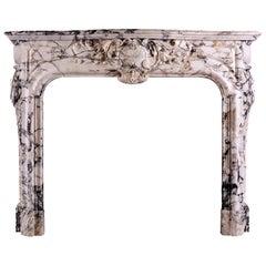 Breccia Louis XIV/XV Transitional Fireplace