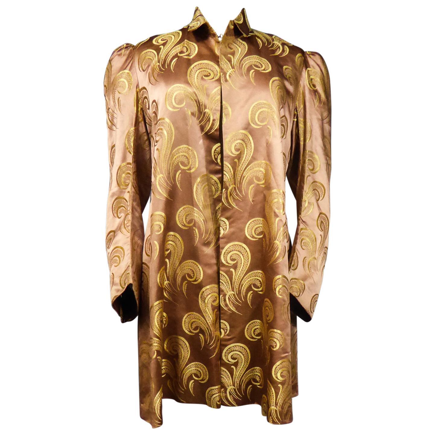 A Brocaded Satin Silk Evening Jacket Circa 1930/1950