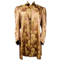 A Brocaded Satin Silk Evening Jacket Circa 1930/1950