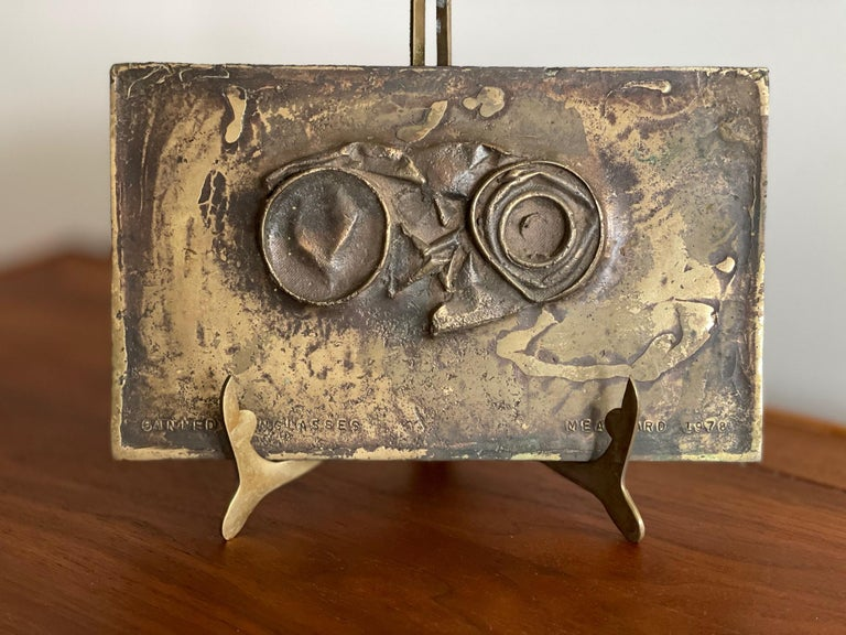 An interesting heavy bronze unique sculpture by Jerry Meatyard,