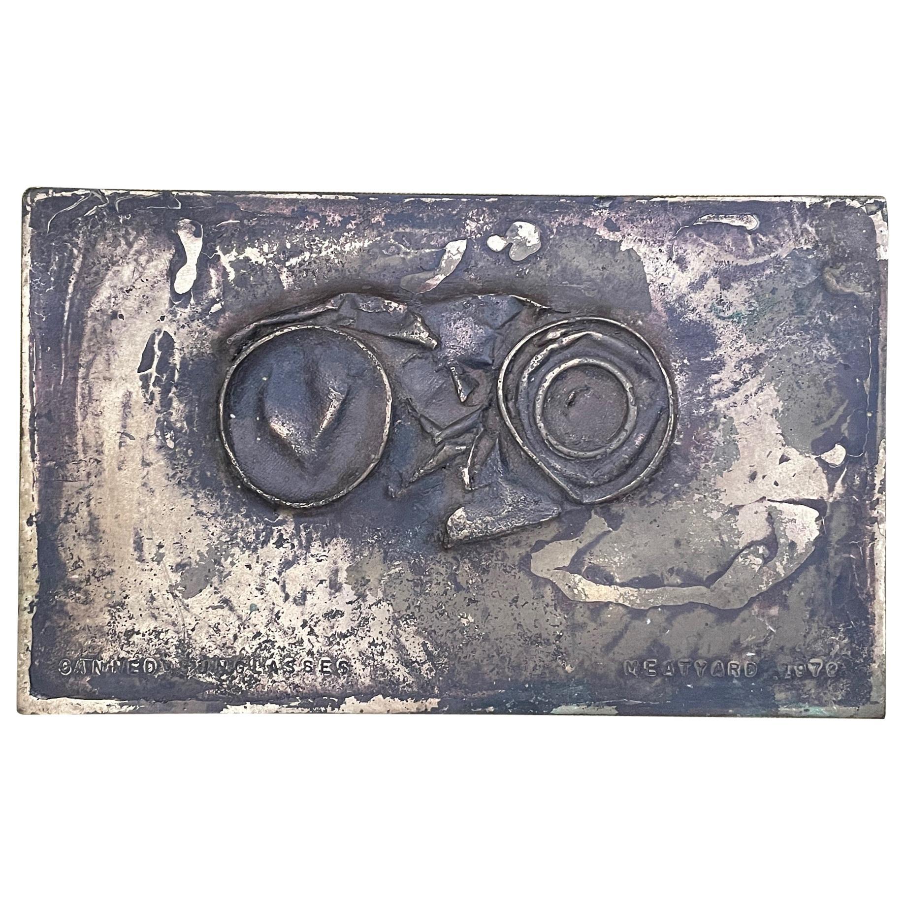 "Bronze Sculpture by Jerry Meatyard ""Sunglasses"", 1978"