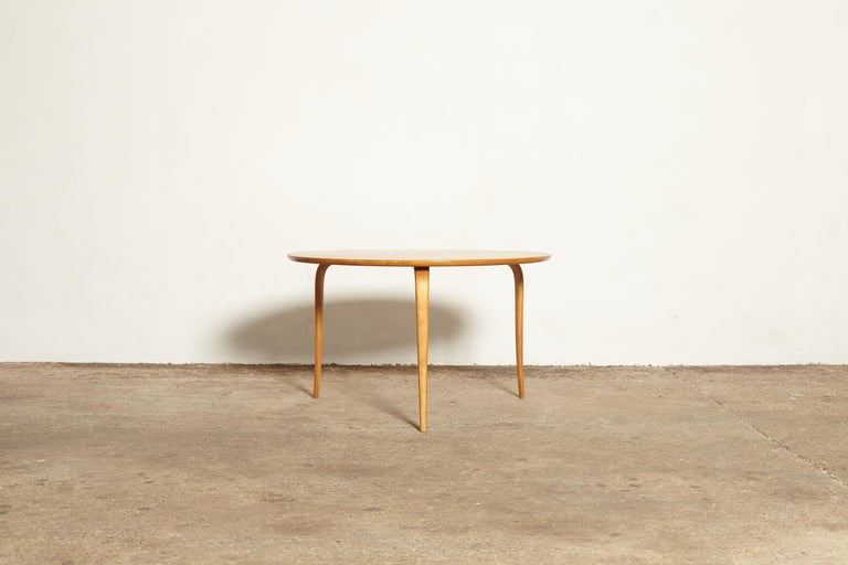 Swedish Bruno Mathsson Annika Coffee Table, Made by Karl Mathsson, Sweden, 1940s-1950s For Sale