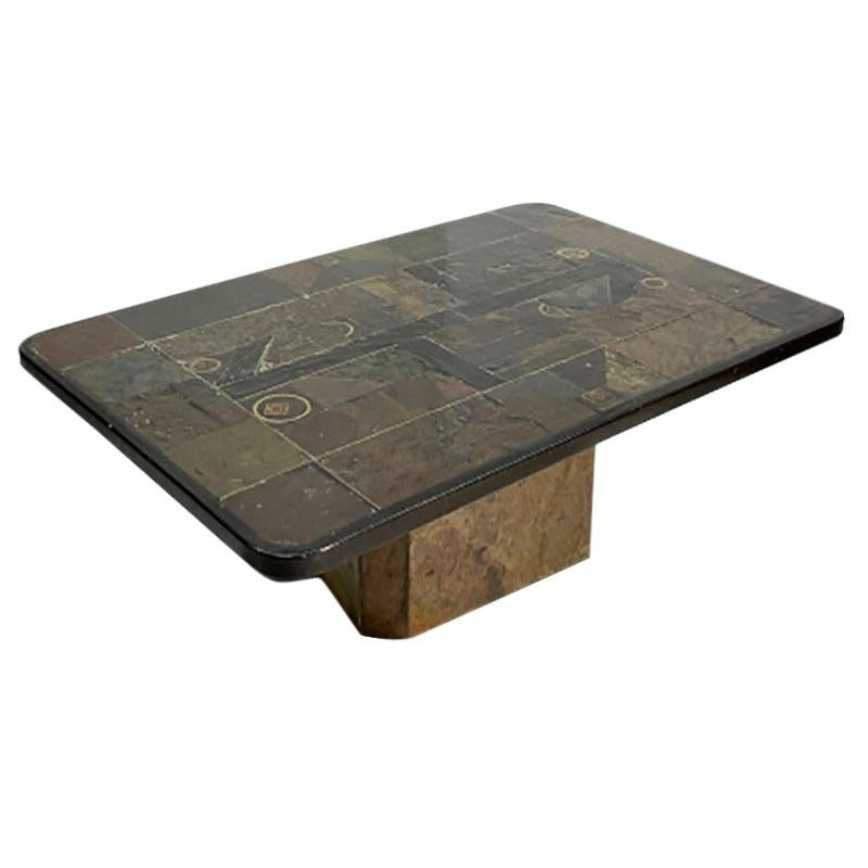 Brutalist Coffee Table Designed by Paul Kingma