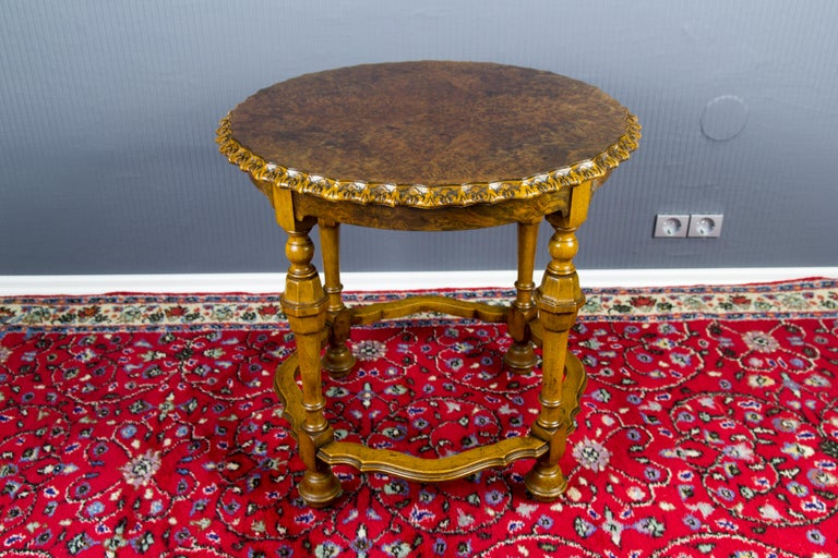 Burr Walnut Coffee Table For Sale 4