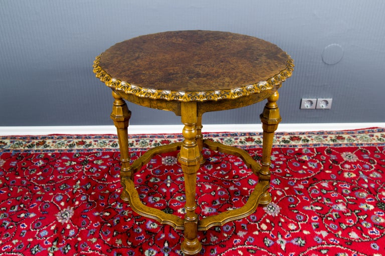 Burr Walnut Coffee Table For Sale 5