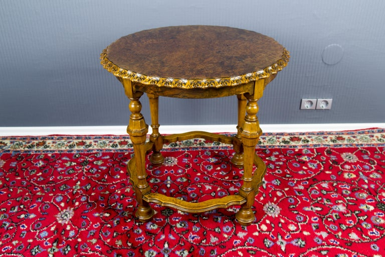 Burr Walnut Coffee Table For Sale 6