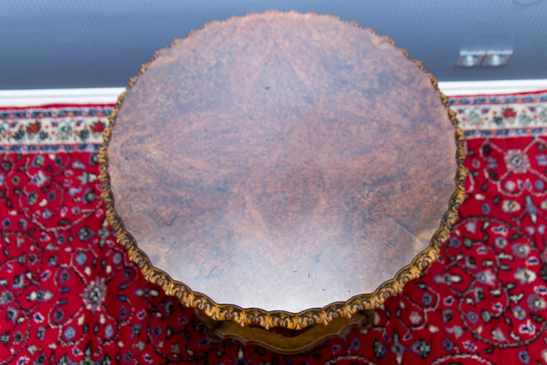 Early 20th Century Burr Walnut Coffee Table For Sale