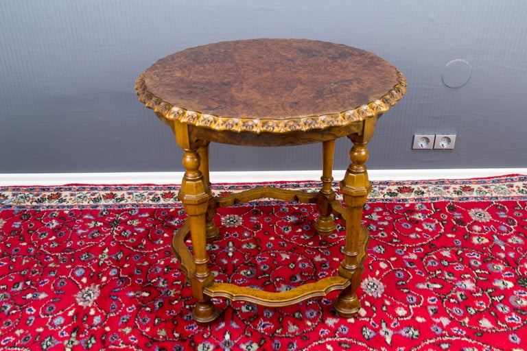 Wood Burr Walnut Coffee Table For Sale