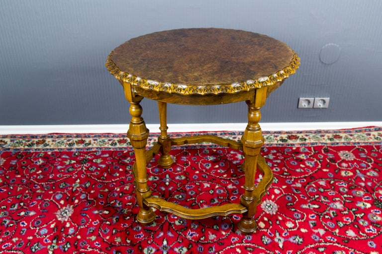 Burr Walnut Coffee Table For Sale 2